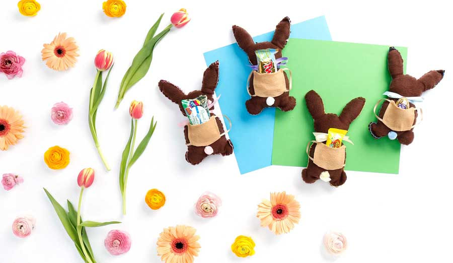 How to Make an Adorable Stuffed Chocolate Bunny Easter Candy Holder