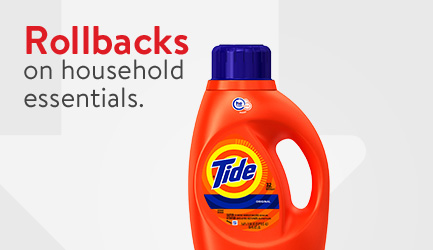 Shop Rollbacks on household essentials