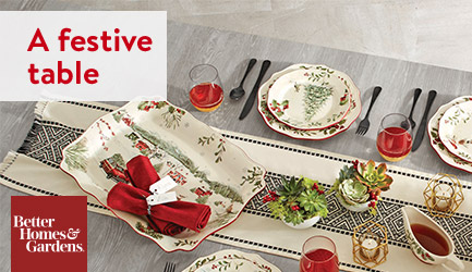 A festive table. Shop Better Homes & Gardens