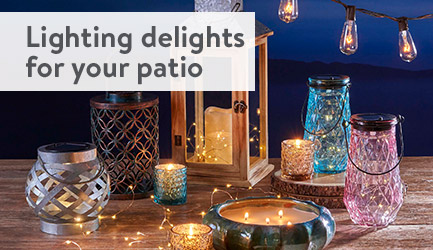 Lighting delights for your patio