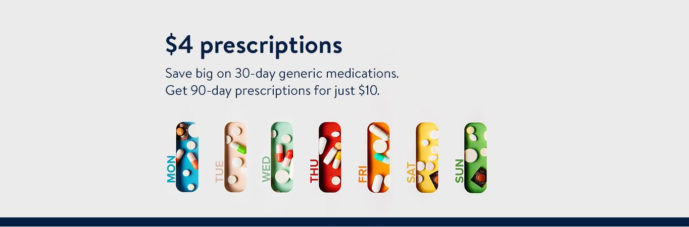 $4 prescriptions
