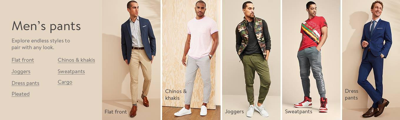 Fashion Men/'s Casual Pants Chino  Biker Pant Slim Fit Fleece  Pants