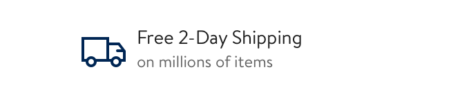 Shipping: Free 2-day shipping on millions of items. Click to continue