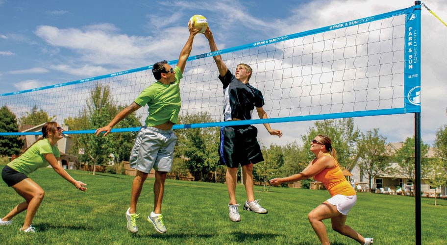 Fun in the sun. Start summer off right with top volleyball sets from Park & Sun Sports.