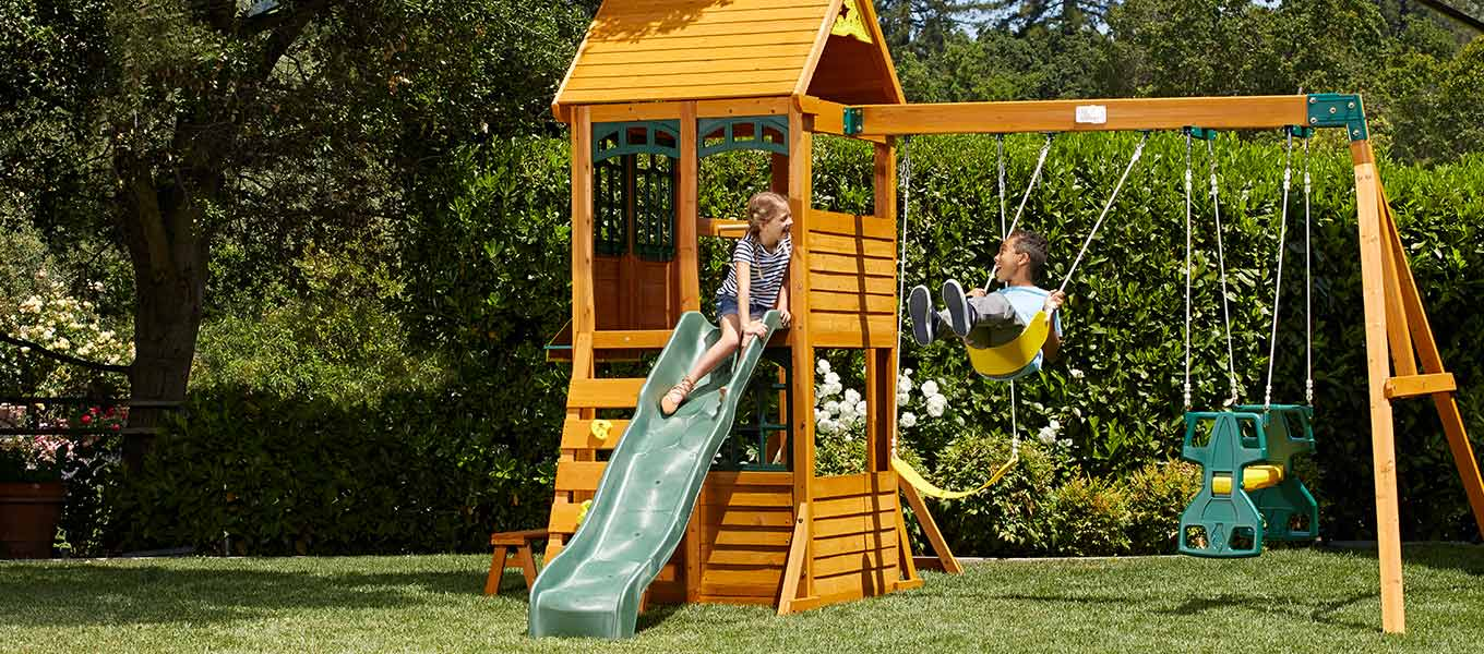 Add Sun to Family Fun. Get your crew out & active with playsets, bikes and more.