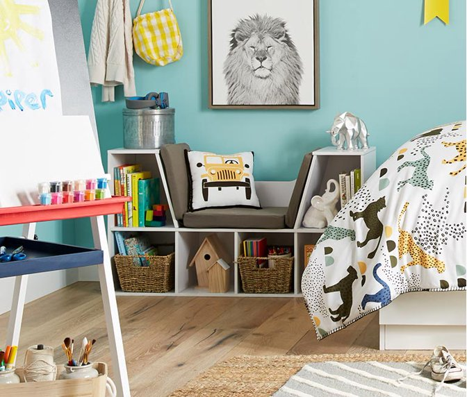 889c119d7ee Color outside the box. Make cleanup time easy with fun storage.