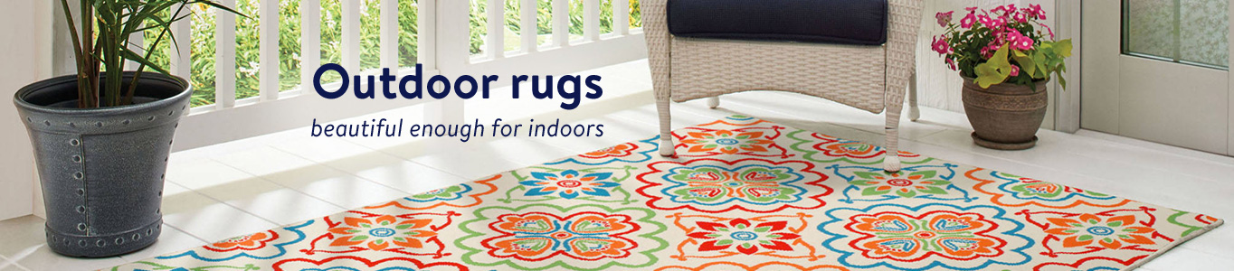 Outdoor rugs beautiful enough for indoors. - Walmart Rugs On Sale Roselawnlutheran