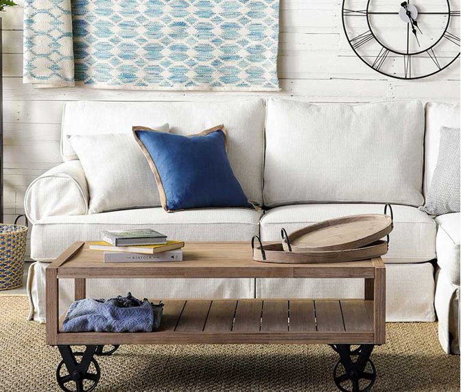 6633c6156b2 A farmhouse style living room with a sectional sofa