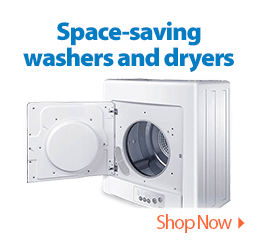 Space-saving washers and dryers.