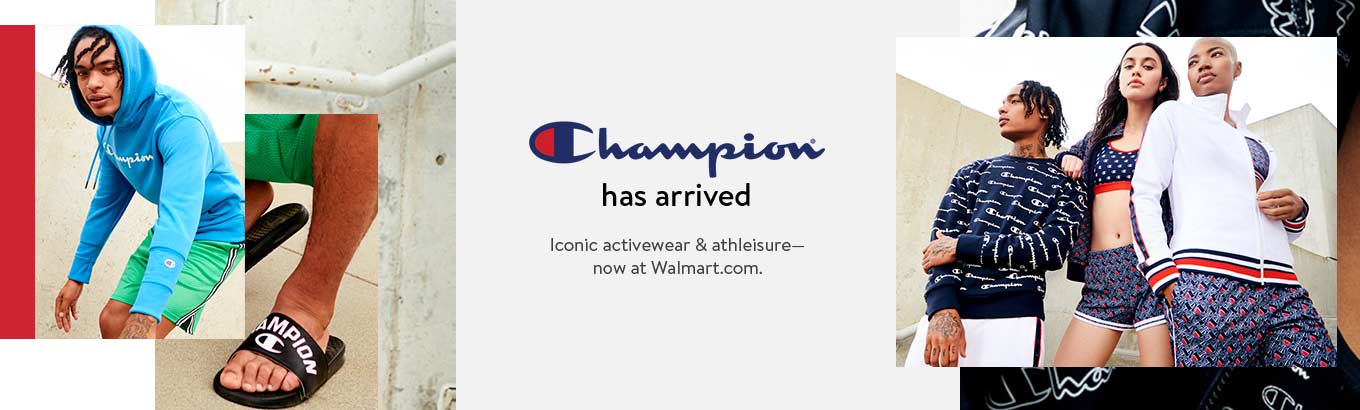 Champion has arrived. Iconic activewear and athleisure. Now at Walmart.com. Shop now.