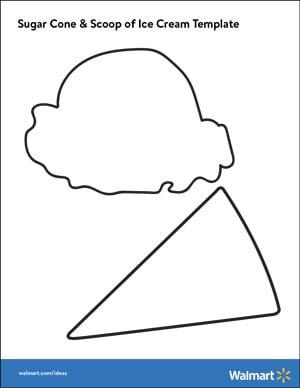 How to make cute paper ice cream cone crafts walmart printable pdf of ice cream scoop sugar cone shape maxwellsz