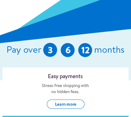 Easy payments. Stress-free shopping with no hidden fees.