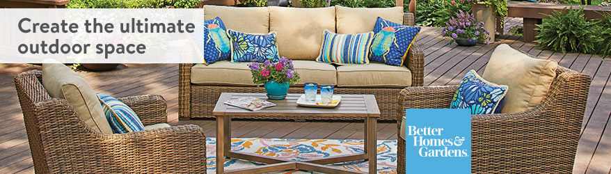 creative inspiration better homes and gardens patio cushions. Create the ultimate outdoor space  Shop Better Homes Gardens Walmart com