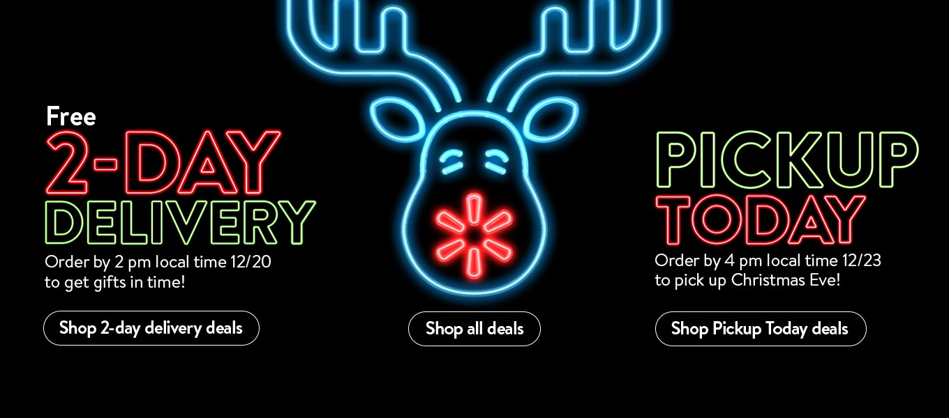 Free 2-day delivery. Order by 2 pm local time 12/20 to get it by Christmas!  Shop 2-day delivery deals. Pickup today. Order by 4 pm local time 12/23 to pick up Christmas Eve! Shop pickup today deals