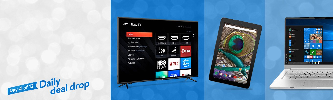 Daily deal drop. Up to 40% off tech. A treat for tech lovers: deals on select TVs, tablets, and more.  Shop all deals.