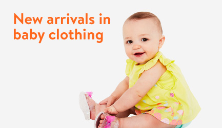 New arrivals in baby clothing.