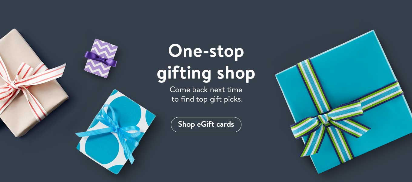 One-stop gifting shop. Come back next time to find top gift picks. In the meantime, shop eGift cards.