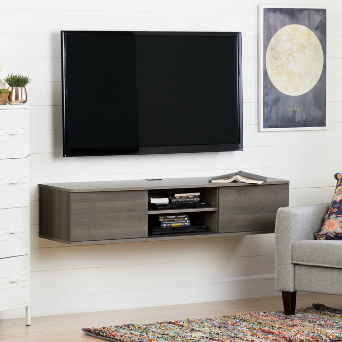Get Floating TV Stands For A Sleek Look.