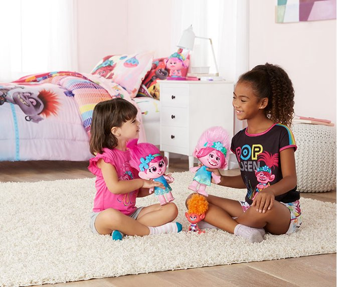 Bring Trolls Home Toys Bedding And Clothing In A