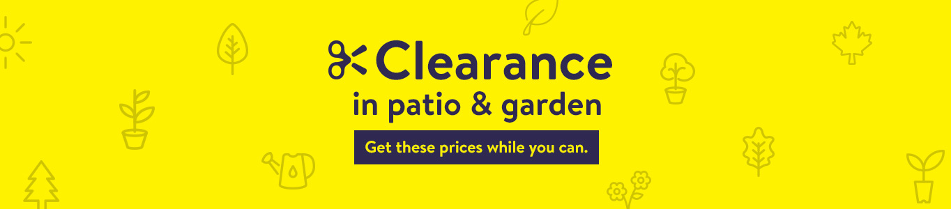 Clearance In Patio And Garden. Get These Prices While You Can.
