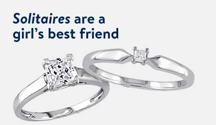 Solitaires are a girl's best friend!
