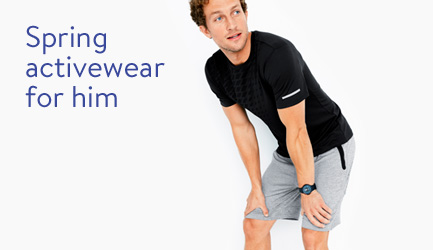 Spring activewear for him b&t