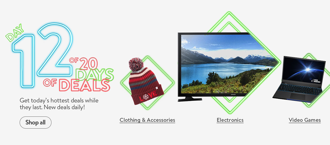Day 12 of 20 days of deals. Get today's hottest deals while they last. New deals daily!