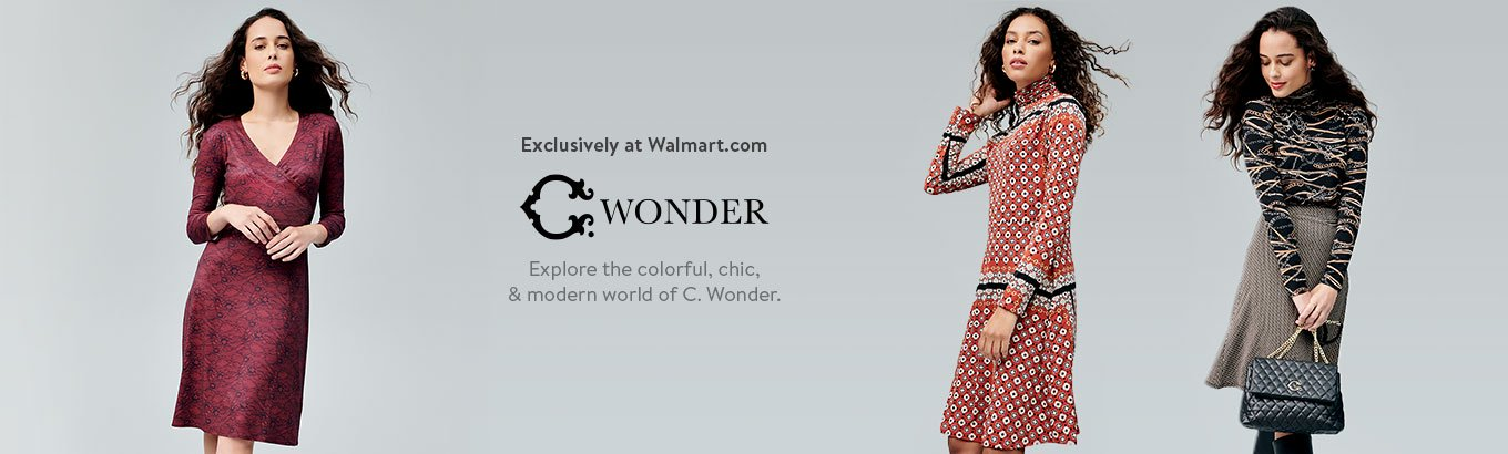 Exclusively at Walmart.com. C. Wonder logo. Explore the colorful, chic, and modern world of C. Wonder.