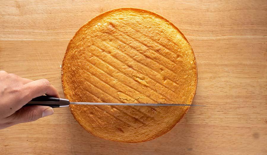 Step 2 cut frozen cake