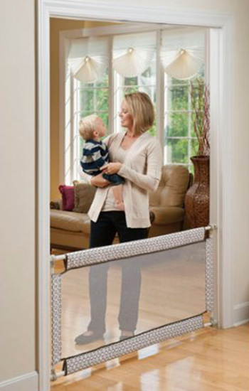 Baby gate buying guide - Evenflow Extra Wide and Soft Baby Gate with Wall Protector