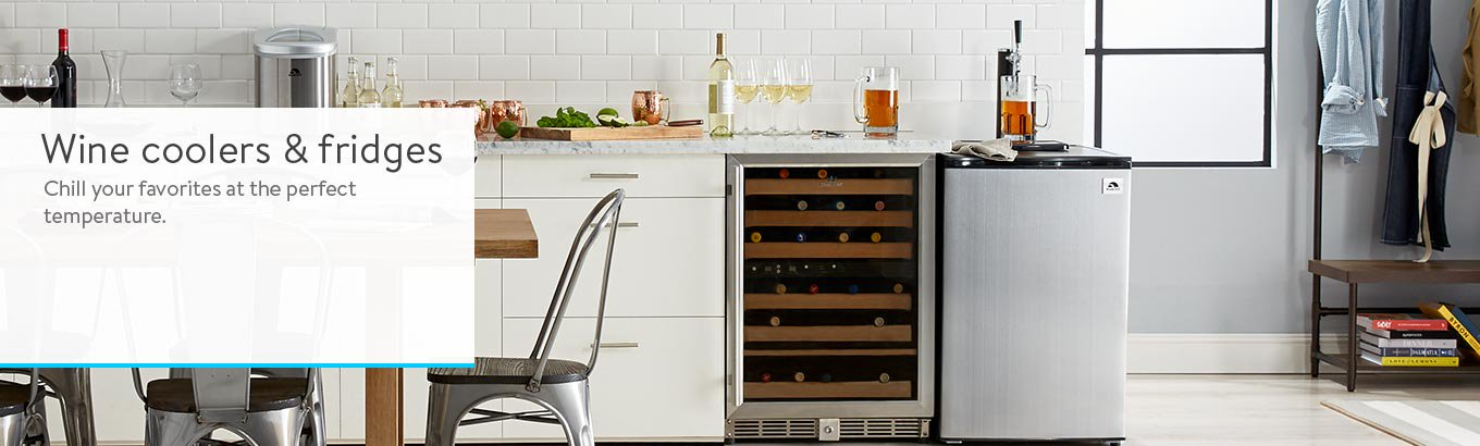 Chill your favorite beverages with wine coolers and fridges.
