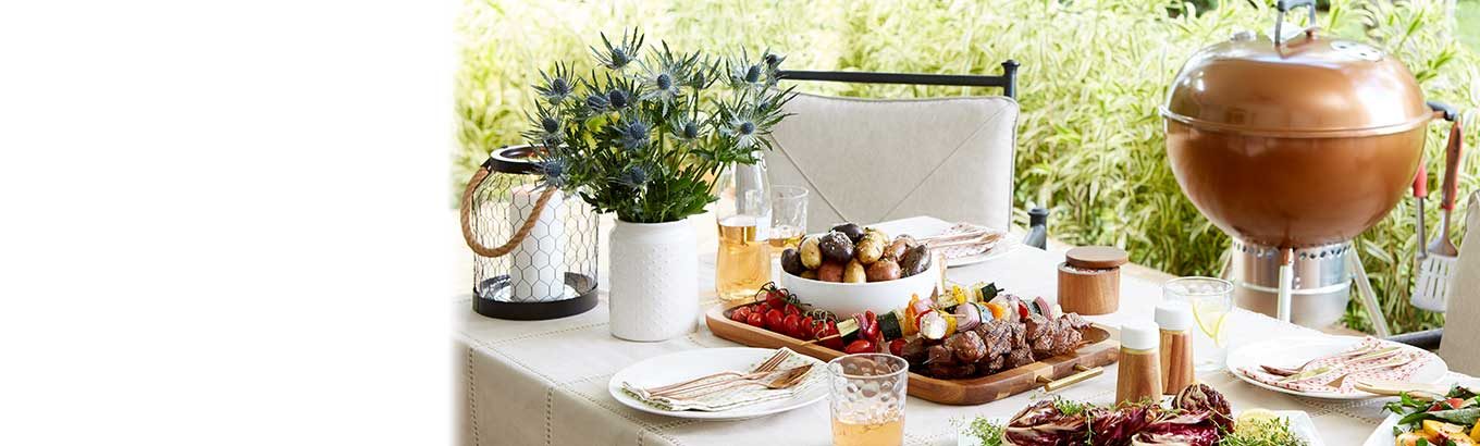Easy, breezy hosting. Everything you need for refreshingly simple outdoor entertaining.