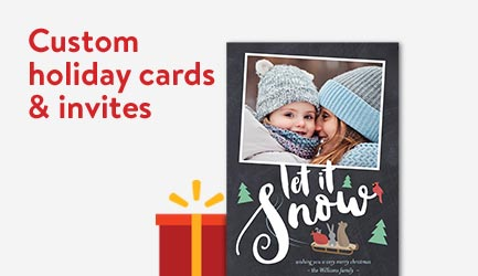 Shop customized holiday cards and invites
