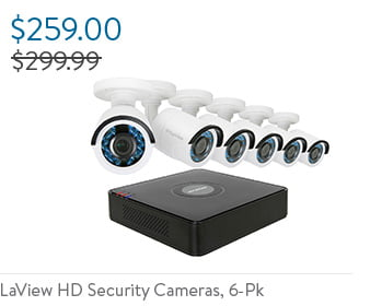 LaView HD Security Cameras, 6-Pk