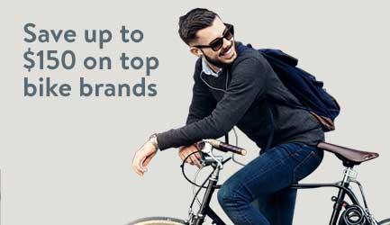 Save up to $150 on top bike brands