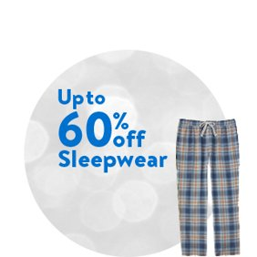 Up to 60% off Sleepwear: Sleepwear Deals
