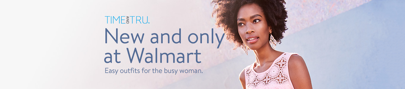 New and only at Walmart. Easy outfits for the busy woman