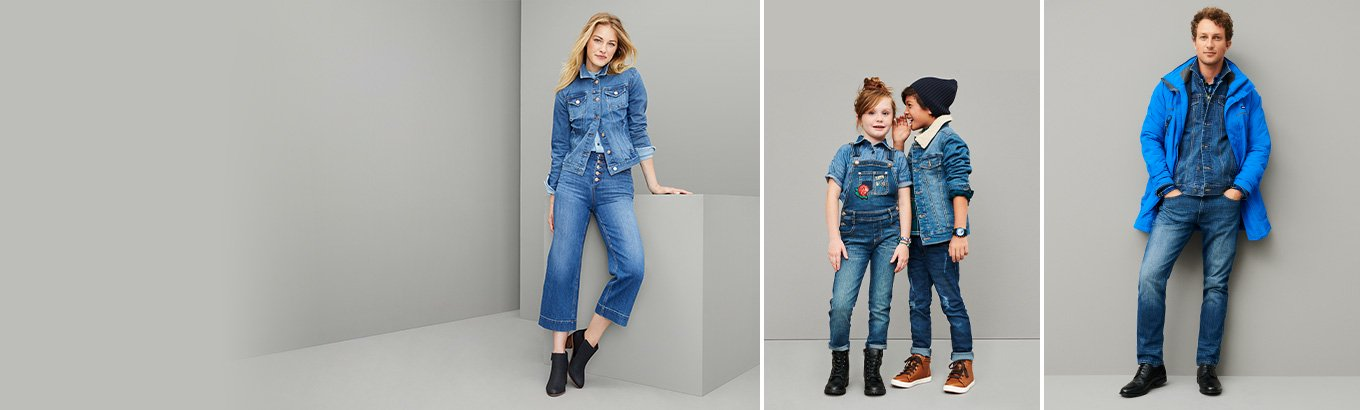 Denim for all. Save on faves for the whole family from Levi's, Sofía Jeans, and more.