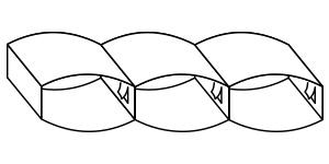 black and white illustration of baffle box comforter construction