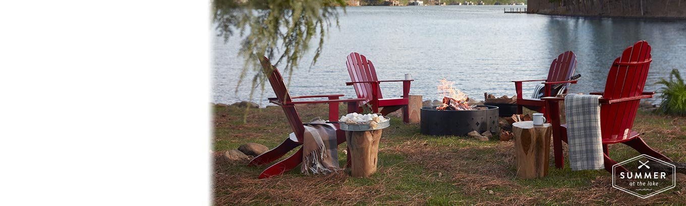 Fireside retreat. Rustic, lake house looks invite easy summer evenings in any setting.