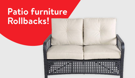 Patio furniture Rollbacks!