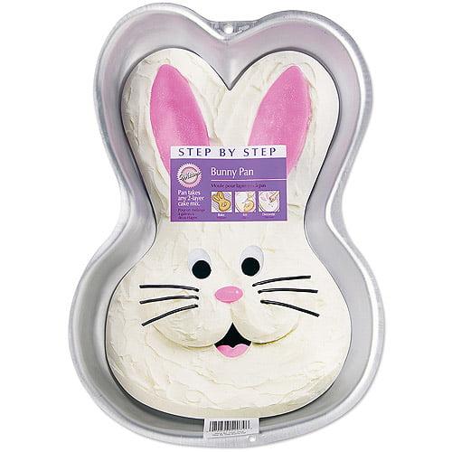 """Wilton Step-by-Step 9.75""""x14"""" Cake Pan, Bunny 2105-2074"""