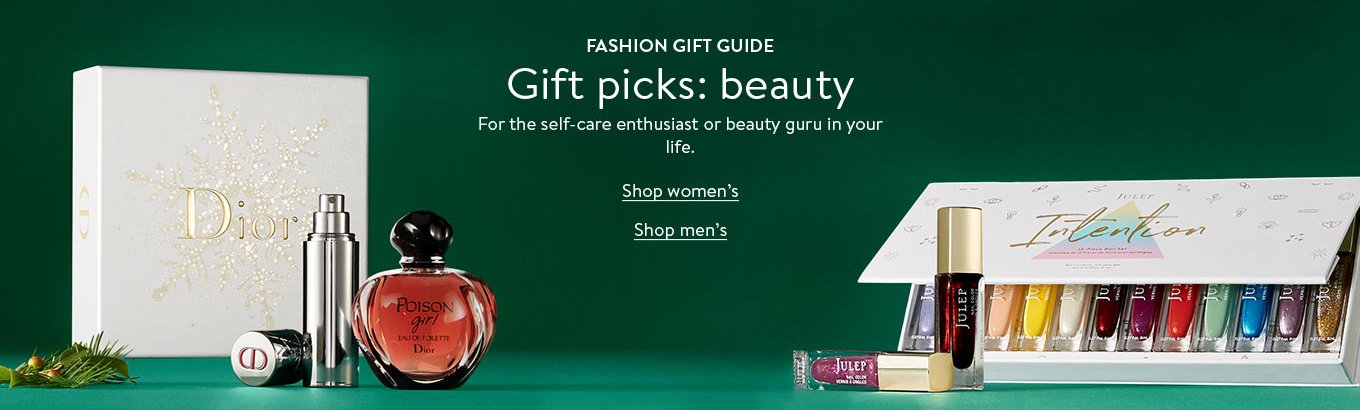 Fashion gift guide: Gift picks: beauty. For the self-care enthusiast or beauty guru in your life. Shop women's. Shop men's.