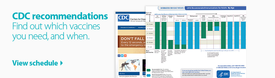 CDC Recommended Immunizations