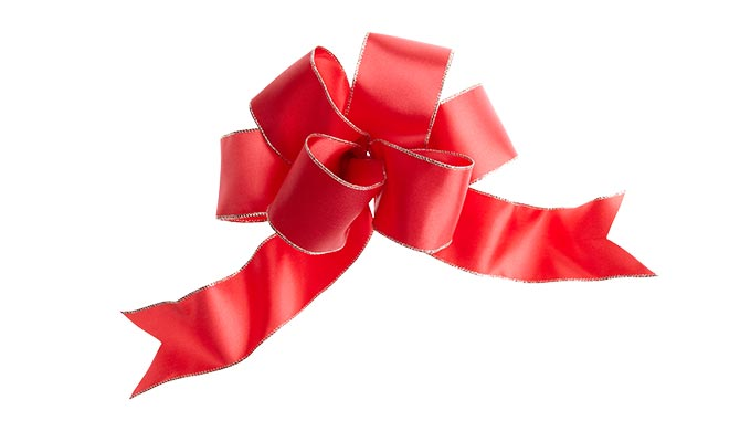 how to tie a decorative bow. Black Bedroom Furniture Sets. Home Design Ideas