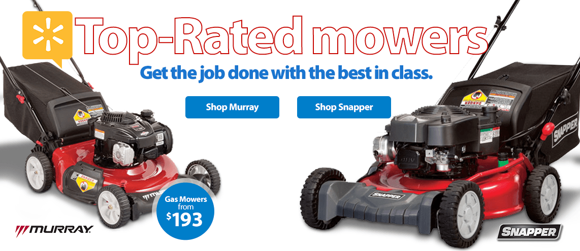 Top rated mowers. Get the job done with the best in class.