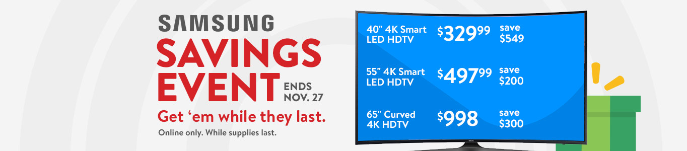 Samsung Savings Event ends November 27. Get 'em while they last.