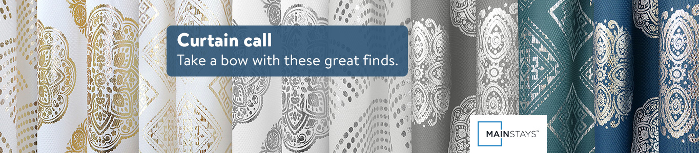 Curtain call. Take a bow with these great finds. Shop curtains from Mainstays.