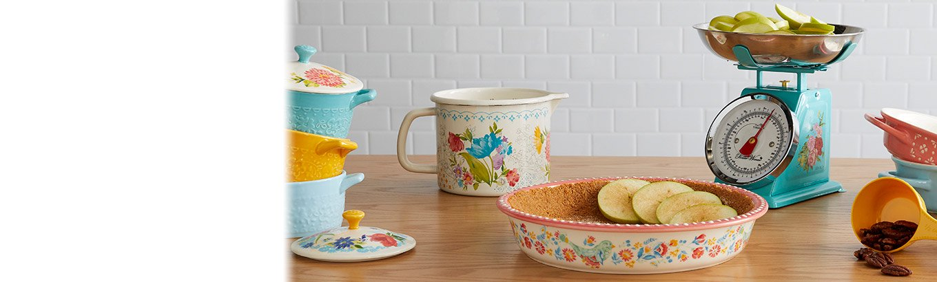 New in bloom. The latest spring bakeware, dinnerware, tools, and gadgets.