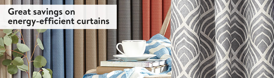 Great savings on energy-efficient curtains